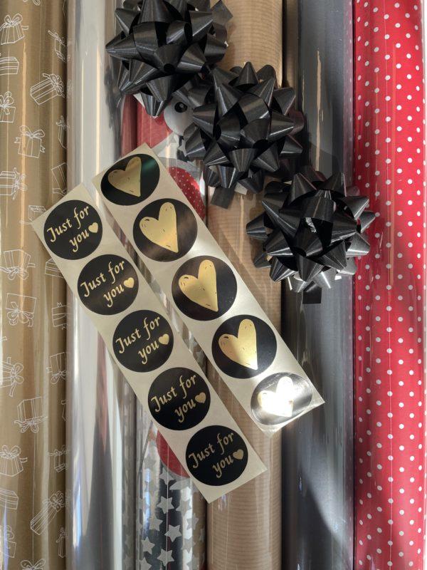 Inpak Set Kerst Traditioneel incl Lint en Sterren
