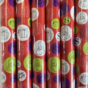 6 rollen Sinterklaaspapier Rood