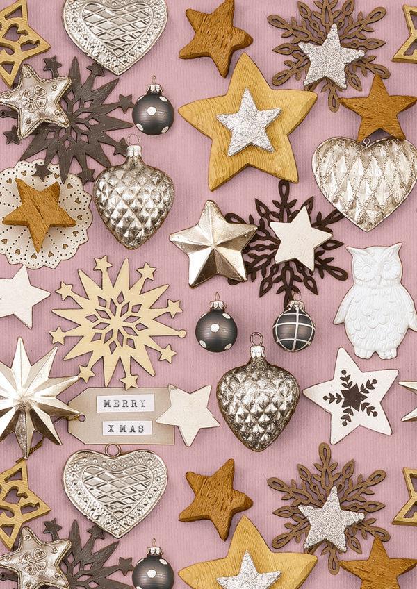 Roze Kerstpapier Rosendale Nostalgisch