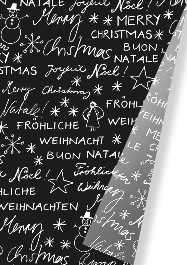 Kerstpapier Vrolijk Kerstfeest Verschillende Talen