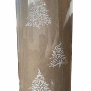 Cadeaupapier Kerst Kerstbomen Wit