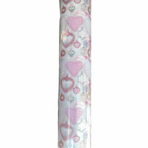 Roze Kerstpapier Romantisch Hartjes