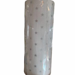 Cadeaupapier Sterren Zilver Glitter